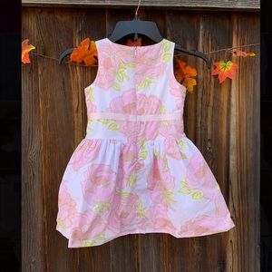 Gymboree Dresses - Gymboree girls pink floral sleeveless dress